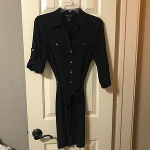 White House Black Market silk black dress